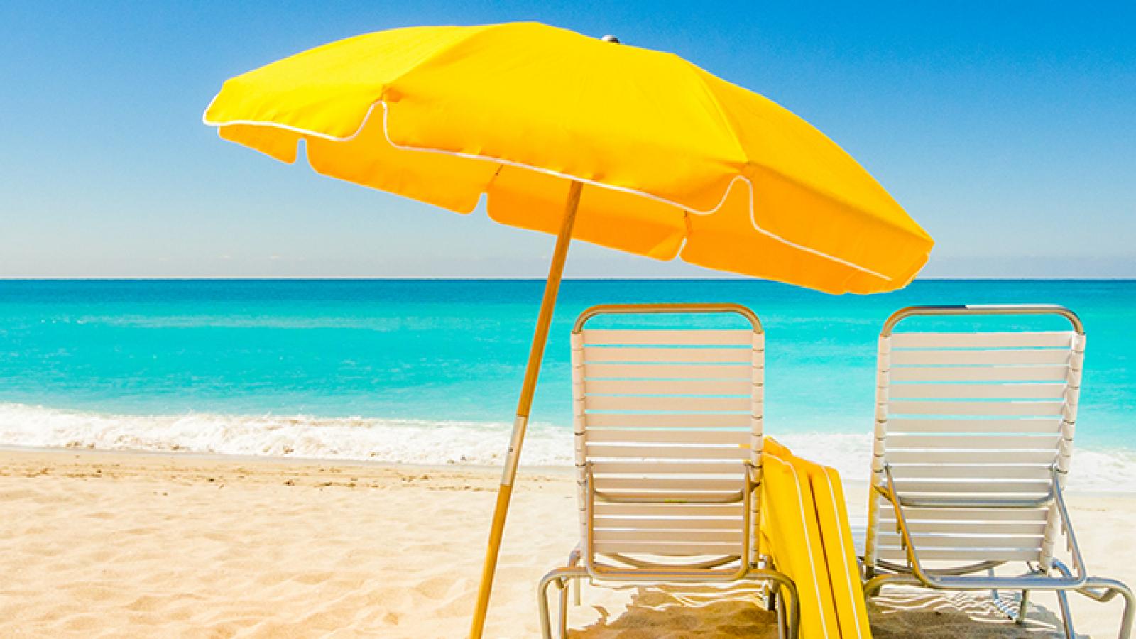 Beach parasol hire