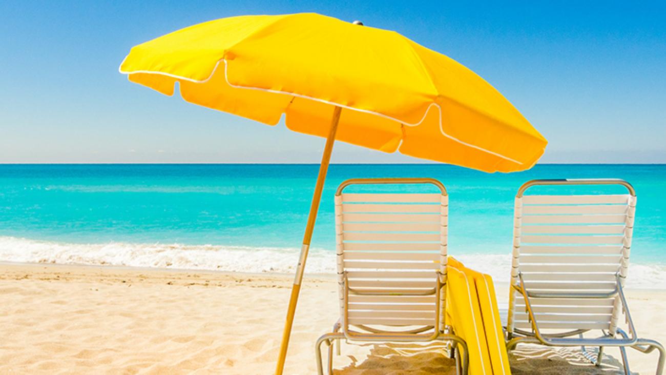 Alquilar una sombrilla de playa